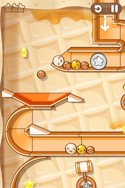 mobile screenshot of rolling coins game